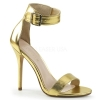 AMUSE - 10 Gold Metallic Faux Leather